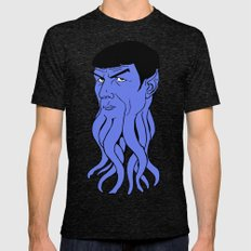 Mr Spocktopus 2X-LARGE Tri-Black Mens Fitted Tee