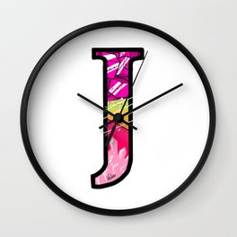 initial J Wall Clock