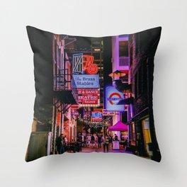 Nashville // Retro 1 Throw Pillow