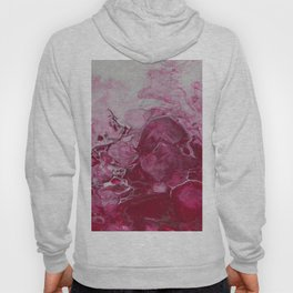 Magenta Love, abstract acrylic fluid painting Hoody