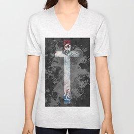 Blood on the Handkerchief Unisex V-Neck