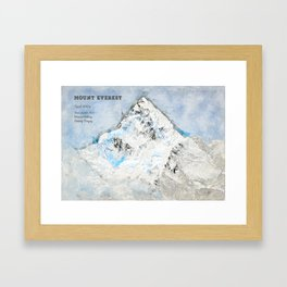 Mount Everest, Nepal Asia Framed Art Print