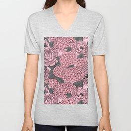 Floral bouquet in pink Unisex V-Neck