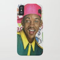 fresh prince iPhone & iPod Cases featuring Fresh Prince of Bel Air - Will Smith by Heather Buchanan