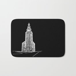 the Electric Tower at Night Bath Mat
