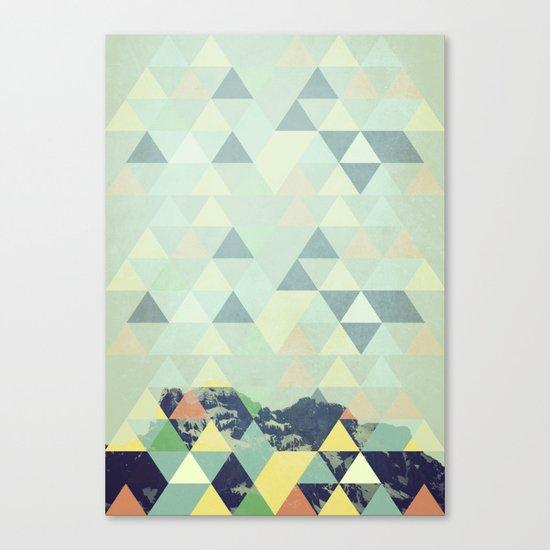Triangle Mountain II Canvas Print
