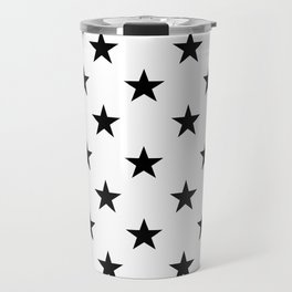 Stars (Black/White) Travel Mug