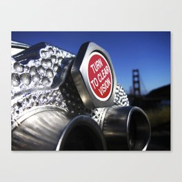 Turn to Clear Vision Canvas Print