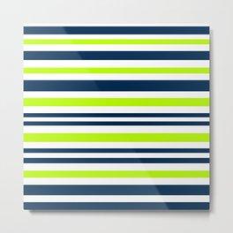 Striped multi-colored 6 Metal Print