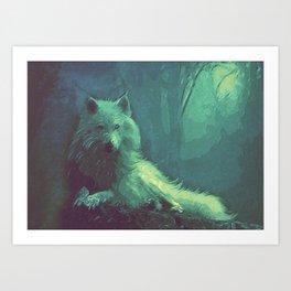 wolf canvas art Art Print