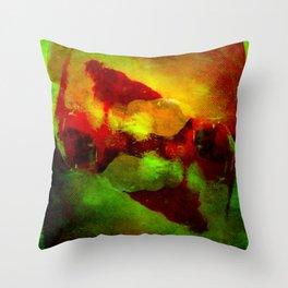 Abstract Terror Throw Pillow