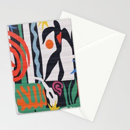 inspired to Matisse (black) Stationery Cards
