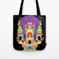 castle Tote Bags featuring castle  by crayon dreamer
