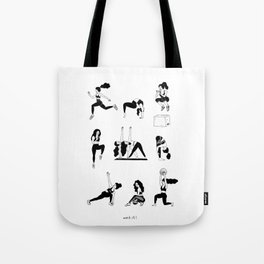 girls workin' it out! Tote Bag