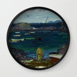 The Harbor, Monhegan Coast, Maine, 1913 Wall Clock