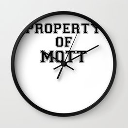 Property of MOTT Wall Clock