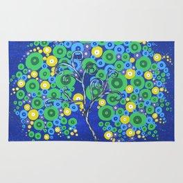 Peacock Tree of Life Rug