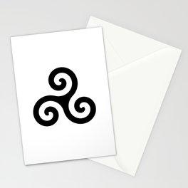Triskele 5 -triskelion,triquètre,triscèle,spiral,celtic,Trisquelión,rotational Stationery Cards