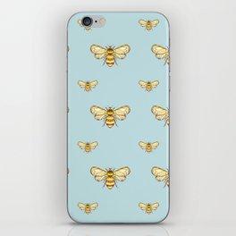 Bumblebee on Mint iPhone Skin