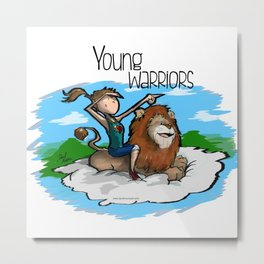 Young Warriors - Tita n' Lion Metal Print