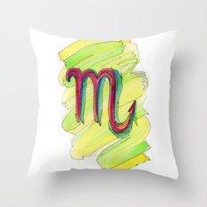 Scorpio Flow Throw Pillow