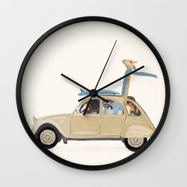 road trip deux Wall Clock