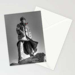 Colonel Sir Archibald David Stirling with a red poppy Stationery Cards