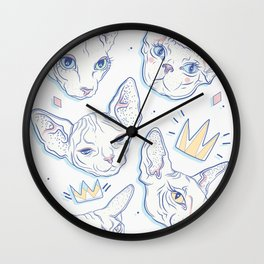 Sphynx Kitties Wall Clock