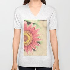 Red flower Unisex V-Neck