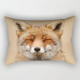 Zen Fox (Red Fox smiling) Rectangular Pillow