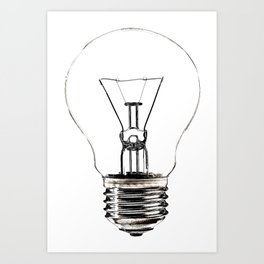 I Have an Idea!  Let there be light... Art Print