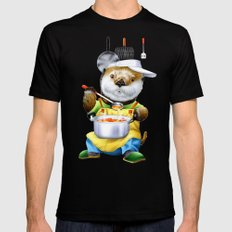 A sea otter cooking SMALL Black Mens Fitted Tee