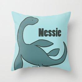 Nessie - The Loch Ness Monster (blue) Throw Pillow