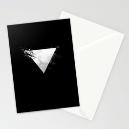 Abstract Triangle bw Stationery Cards