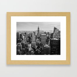 Black & White NYC Skyline Framed Art Print