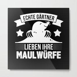 Funny Mole I Garden |Gardener I Saying Metal Print