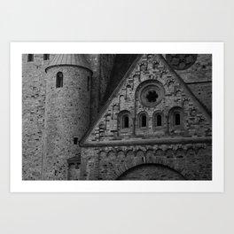 castillo de cuba        Black and White  Art Print