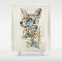 heroes Shower Curtains featuring Heroes of Lylat Starfox Inspired Classy Geek Painting by Barrett Biggers