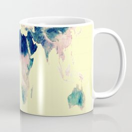 World Map : Gall Peters Pastel Coffee Mug