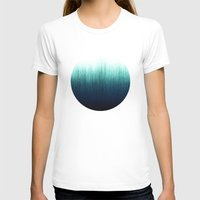 teal T-shirts featuring Teal Ombré by Caitlin Workman