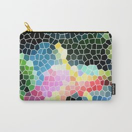 Anthurium Flower Mosaic Carry-All Pouch