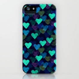 Glowing Hearts iPhone Case