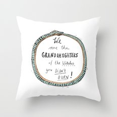 Ouroboros of the Witches Throw Pillow