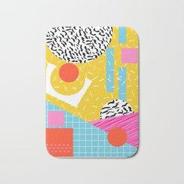 Homefry - abstract pattern memphis retro throwback 80s neon vibes trendy art decor Bath Mat