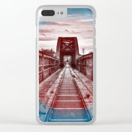 Abandoned Train Tracks in Scotland. Clear iPhone Case