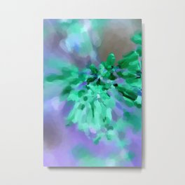 Abstract Green and Lilac Metal Print