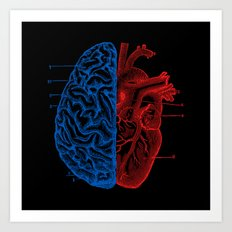 Heart and Brain Art Print