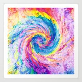 digital tie dye 15 Art Print