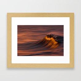 Flaming Wave Framed Art Print