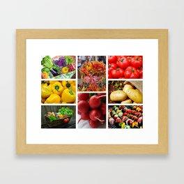 Garden Fresh Vegetables - Kitchen Decor Framed Art Print